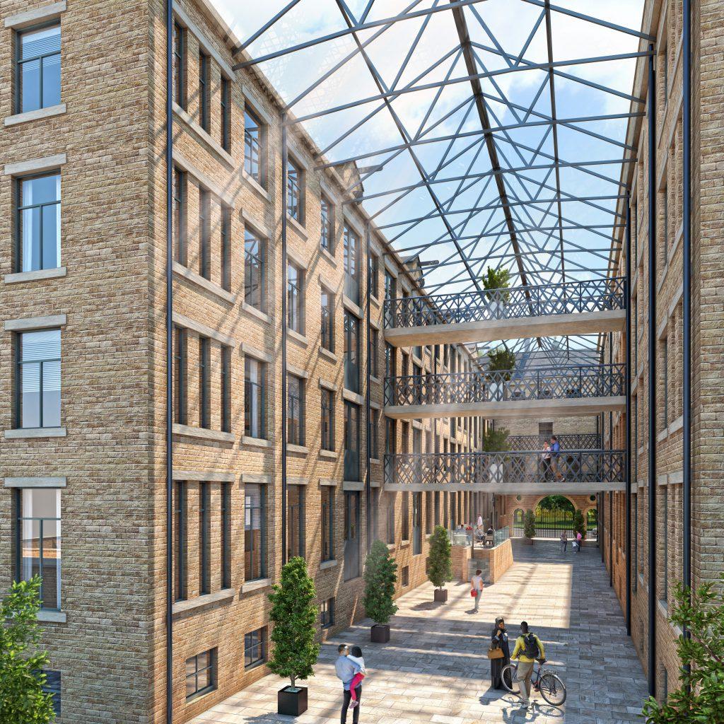 atrium view of Conditioning house an award winning development in Bradford