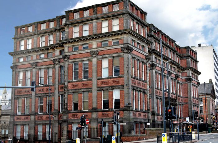 The exterior of 2 Great George Street in the heart of Leeds city centre.