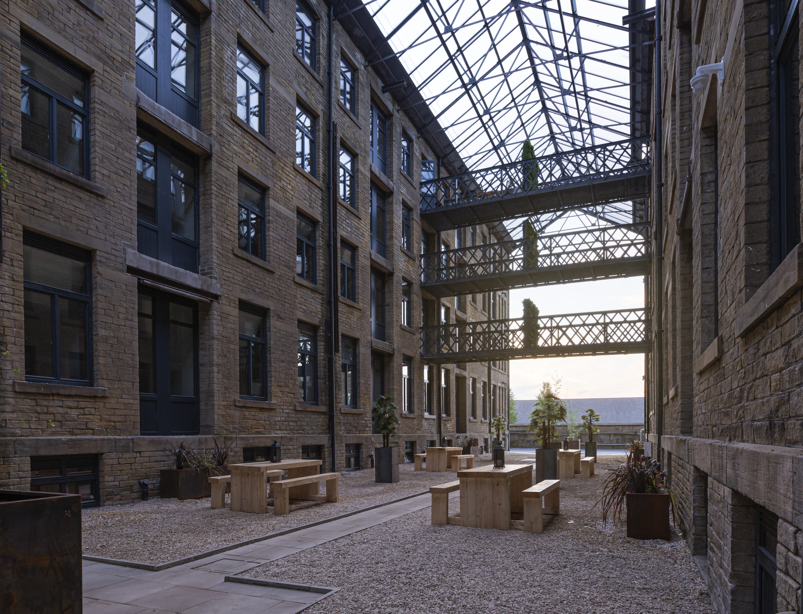 Bradford Property - Conditioning house atrium_wide_dusk